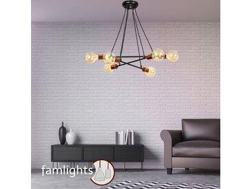 famlightsHängeleuchte Pendelleuchte Dekorativ E27 Metall Modern Schlafzimmer schwarz Wohnzimmer Esszimmer dimmbar  - EEK A++ [A++ bis E]