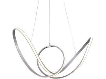 Pendelleuchte Aluminium Designer Leuchte Kunststoff Acryl LED Schlicht silber Zeitlos dimmbar höhenverstellbar Fernbedienung tollem Lichteffekt  - EEK A+ [A++ bis E]