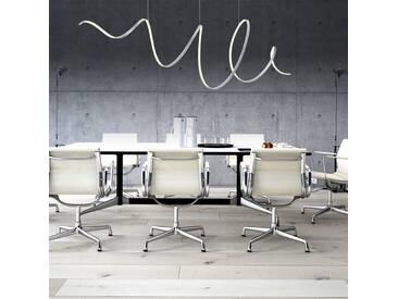 Pendelleuchte Aluminium Außergewöhnlich Designer Leuchte Kunststoff Acryl LED silber Zeitlos dimmbar höhenverstellbar Fernbedienung tollem Lichteffekt  - EEK A+ [A++ bis E]