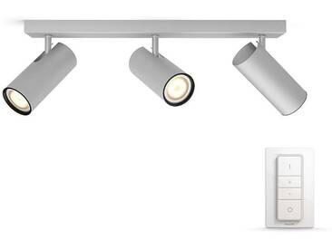 Philips Hue White Ambiance Buratto - 3er Spot 750 lm inkl. Dimmschalter, silber - Strahler, Spots & Aufbaustrahler - EEK A [A++ bis E]