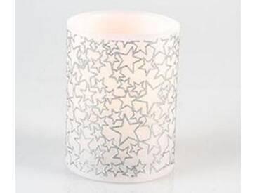 LED Deko Kerze Sternenhimmel, 10 cm hoch