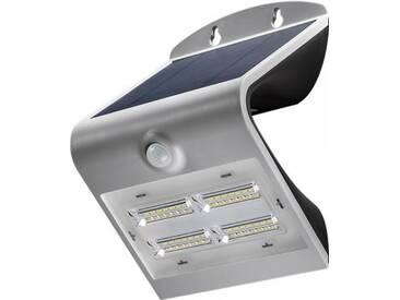 LED Solar-Wandleuchte mit Bewegungsmelder, 3,2W, Silber