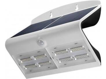 LED Solar-Wandleuchte mit Bewegungsmelder, 6,8W, Weiß