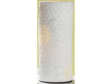 GILDE Tischlampe Dschungel mit Durchbrüchen, 12x12x28 cm