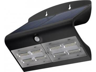 LED Solar-Wandleuchte mit Bewegungsmelder, 6,8W, Schwarz