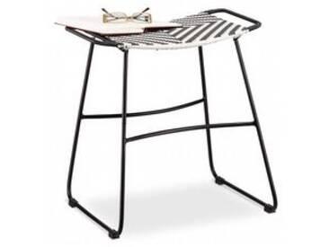 Sitzhocker Schwarz/Weiß Größe: M