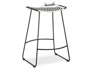 Sitzhocker Schwarz/Weiß Größe: L