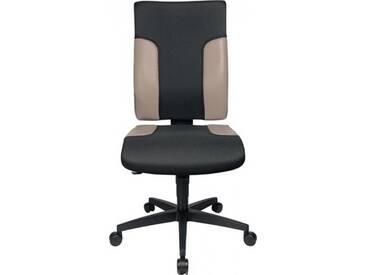 Bürodrehstuhl schwarz/grau Sitz-H.420-540mm ohne Armlehnen