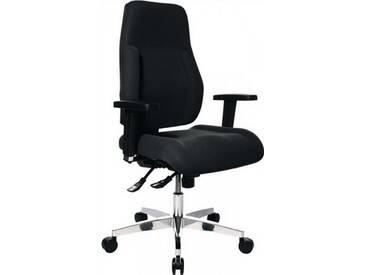 Bürodrehstuhl schwarz Lehnen-H.600mm Sitz-H.430-510mm o.Armlehnen