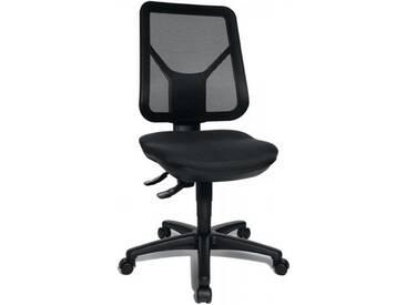 Bürodrehstuhl Sitzhöhe 430-510mm schwarz mit Lendenwirbelstütze ohne Armlehnen