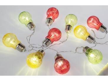 formano LED - Lichterkette 10 Acrylbirnen, bunt, 150 cm