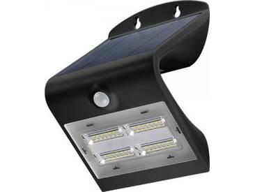 LED Solar-Wandleuchte mit Bewegungsmelder, 3,2W, Schwarz