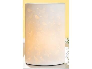 GILDE Porzellan Tischlampe mit Vogelmuster, 28 cm