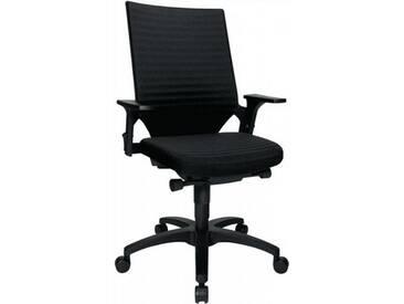 Bürodrehstuhl schwarzmit Autosynchrontechnik Sitz-H.420-550mm mit Armlehnen