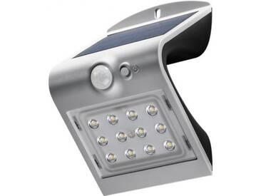 LED Solar-Wandleuchte mit Bewegungsmelder, 1,5W, Silber