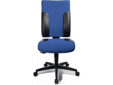 Bürodrehstuhl blau/schwarz Sitz-H.420-540mm ohne Armlehnen