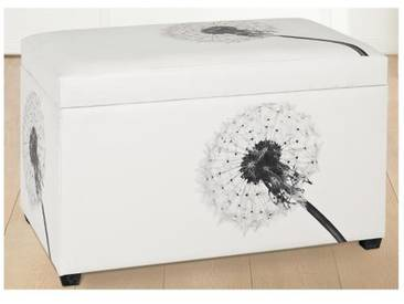 GILDE Sitztruhe Pusteblume aus Kunstleder, weiß, 40x64x42 cm