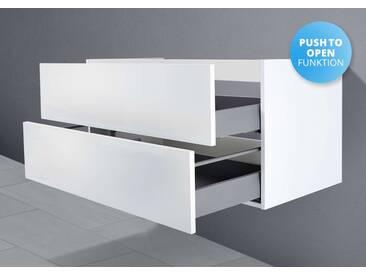 Unterschrank für Keramag Renova Nr. 1 Plan Waschtisch 100 cm Grifflos Push To Open + Softclose