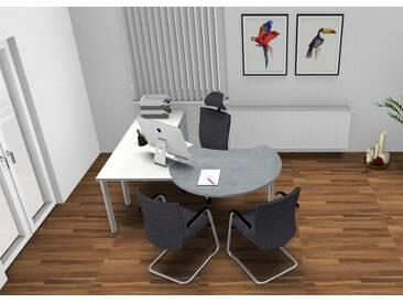 Schreibtisch Pendo Rondo L-Form Berater 2 Auswahl Farbe