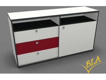 Schiebetüren-Schubladen-Sideboard Pendo 160 x 80 x 44 cm Auswahl Farbe