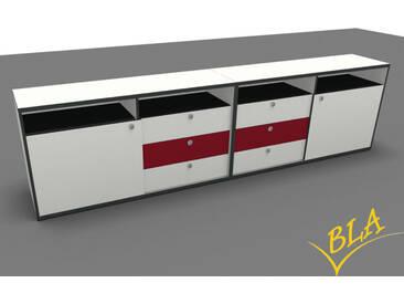 Doppel-Schiebetüren-Schubladen-Sideboard Pendo 240 x 80 x 44cm Auswahl