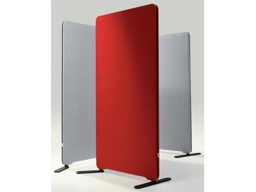 Stellwand Raumteiler LTX Edige Rund Akustik Stoff 80 x 165 cm