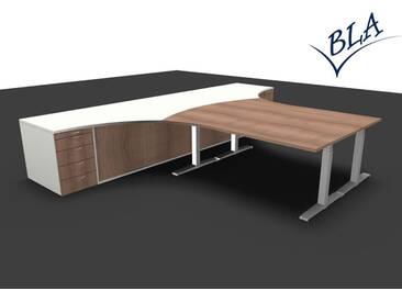 Schreibtisch Kombination Pendo Elektro Polar Top 400 x 300 cm Auswahl