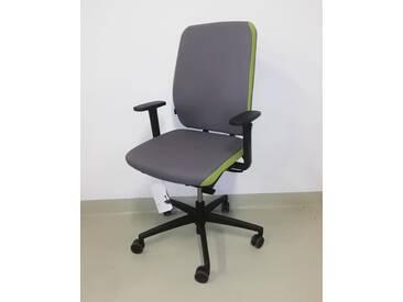 Bürostuhl Grammer Globeline 6 Comfort Polster grau grün Vor-Ort-Artikel
