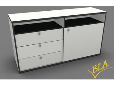 Schiebetüren-Schubladen-Sideboard Pendo 120 x 80 x 44 cm Auswahl Farbe