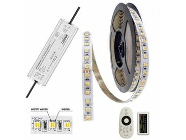 LED-STREIFEN SET CCT Tunable White BRILEDA 600 LED/5m 90 Ra OSRAM Trafo 24V/130W