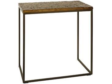 Ambia Home: Beistelltisch, Mangoholz, Bronze, B/H/T 50 52 30