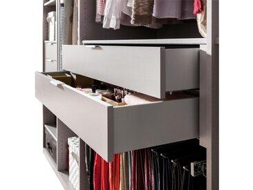 SCHUBKASTENEINSATZ für 100er Elemente Grau, Silberfarben