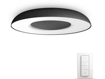 Philips: LED-Deckenleuchte, Schwarz, B/H/T 39 7,2 39