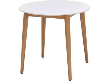 Ambia Garden: Tisch, Eukalyptusholz, Natur, Weiß, H 75