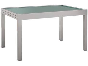 Ambia Garden: Tisch, Silber, B/H/T 90 75 135(270)