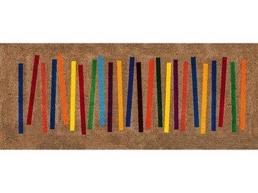 Esposa: FUßMATTE 80/200 cm Graphik Multicolor, Beige
