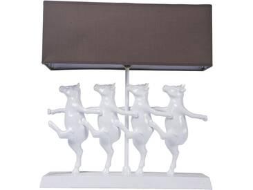 Kare-Design: Tischleuchte, Schlamm, Weiß, B/H/T 40,50 43,50 11,50