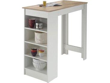 Livetastic: Tisch, Weiß, Eiche, B/H/T 50 103 115