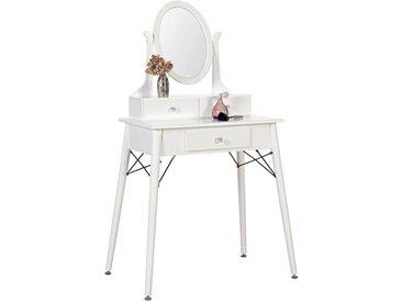 Carryhome: Tisch, Kautschukholz, Weiß, B/H/T 70 137 40