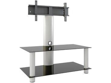 Livetastic: Tisch, Schwarz, Silber, B/H/T 112 90 40
