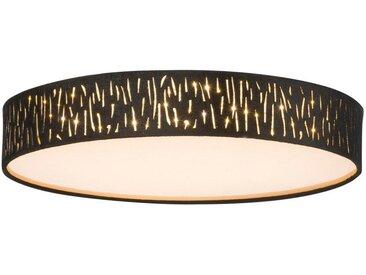 LED-Deckenleuchte, Schwarz, H 10,5