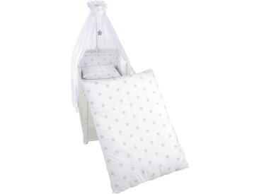 Roba: Gitterbett-Set, Grau, Weiß