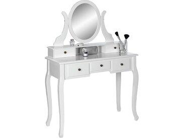 Tisch, Kiefer, Weiß, B/H/T 97 142 40