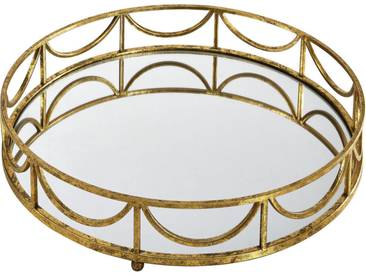 Ambia Home: Tablett, Gold, H 10