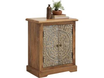Ambia Home: Kommode, Holzwerkstoff,Mangoholz, Mehrfarbig, Natur, B/H/T 66 76 35
