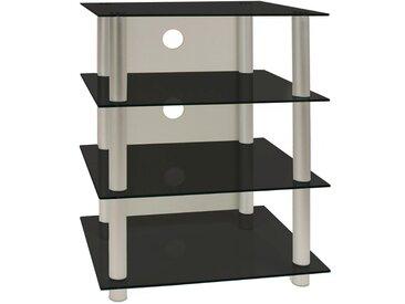 Livetastic: Tisch, Schwarz, Silber, B/H/T 54 70 45