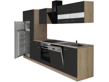 KÜCHENBLOCK E-Geräte, Spüle, Geschirrspüler, Kühlgefrierkombination