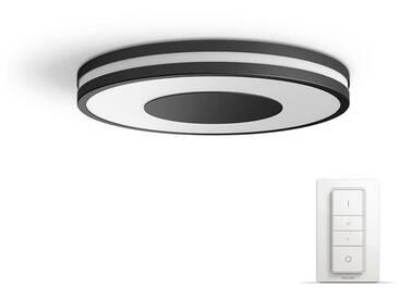 Philips: LED-Deckenleuchte, Schwarz, B/H/T 35 5 35