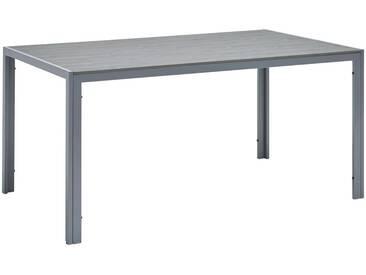 Ambia Garden: Tisch, Grau, Silber, B/H/T 150 72 90