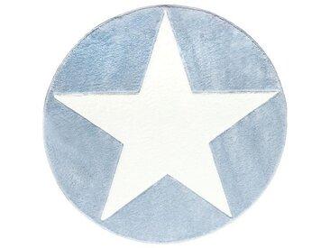 Kinderteppich, Textil, Blau, Weiß
